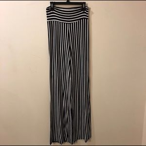 High Waist vintage pants, cotton long wide leg.